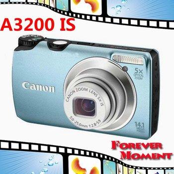 Original Canon PowerShot A3200 IS Digital Camera 5x Optical Zoom, 4x Digital Zoom,14MP Sensor Resolution Free Shipping!!!
