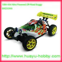 HSP 94081 Radio Control nitro engine Buggy 1/8th scale 4WD Off-Road car BAZOOKA full set RTR wholesale price Dropship