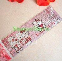 2 pcs/pack Retail Cute Hello Kitty Cartoon Keyboard Sticker (SI-24)