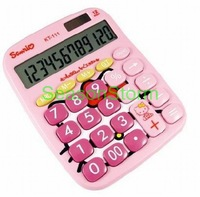 Min Order $20 (mixed order) Retail Cute Hello Kitty Solar Calculator  (SI-17)