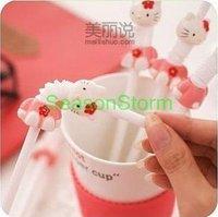 Hello Kitty Cute Cartoon Drinking Stretch Bending Straw (SI-14) Min $20