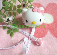 Min Order $20 (mixed order) Retail Cute Hello Kitty Automatic Telescopic Tape Measure 100cm/40inches  (SI-06)