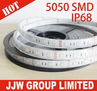 Free Shipping bright Highlight waterproof  led strip ip68 5050 SMD 60LED/m 300 leds 5m 12v 24v volt flexible