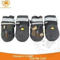 MY PET Free Shipping !Professional Pet outdoor boots with waterproof upper + anti slipper outsole , reflective belt !