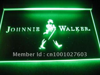w201 Johnnie Walker Whiskey Wine Bar Neon Light Signs