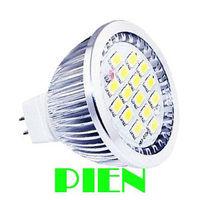 MR16 LED 5630 6W 15 LED Spotlight Bulb Clothing shop Commercial Lamp High Power DC 12V Cold|Warm white Free Shipping 10pcs/lot