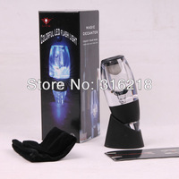 Decanter wine Aerator with LED /essential wine aerator & tower/wine pourers +free china post  shipping