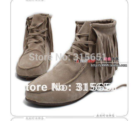 Женские ботинки ladies fashion tassel snow boots, ladies fashion winter half boots size:35-40