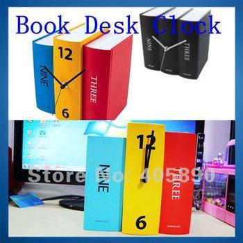 Book Desk Clock Creative Design Retro American Style Clock Gift
