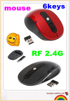 6 kinds of color mouse 2012 NEW Red,Black mouse wireless mini Optical Wireless Mouse/gaming mouse / free shipping/ Fashionable