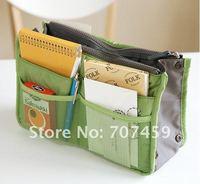 Free shipping! 50pcs/lot high quality multi  Makeup / MP3 Phone Storage Organizer  Purse Hop Bag Handbag Insert, Bag in Bag