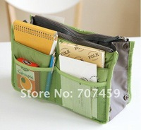 Free shipping! 50pcs/lot high quality multi  Makeup / MP3 Phone Storage Organizer  Purse Hop Bag Handbag Insert, Bag in Bag