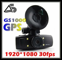 Hot Sales Car DVR 1080P 30FPS Car camera with GPS 1920X1080P H.264 Video code with 1.5 inch LCD Freeshipping car GS1000