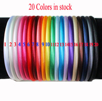 Satin Headband for Baby Hairband 8mm Mixed Color 120pcs Cheapest Price