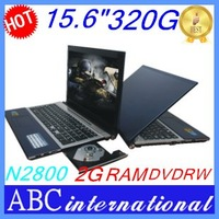 "Brand15.6"" inches laptop notebook HDMI computers intel D2800 2/4GB 320/500GB Free Drop shipping cheapest Russian Portuguese win7"