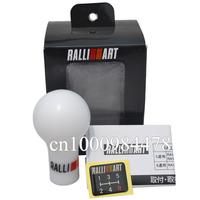 High Quality Ralliart Shift Knob White Color Gear Shift Knob