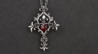 Hot Selling Classic Gothic Cross Pendant Punk Necklace  Min Order $15 (can mix order)