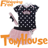2013 branded new baby girl's cotton polka dot romper; chiffon cake skirt and headband 3 pc set; free shipping