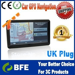 "Dropshipping 7.0"" Touch HD Screen CAR GPS Includes EUROPE, UK & Ireland Latest Maps persional GPS navigation with UK plug(China (Mainland))"