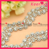 Wholesale A rhinestone trimming chain shining and gorgeous for wedding accessory  5yards/bag  free shipping  #WCK-500
