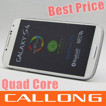"In stock Real 1:1 i9500 s4 phone MTK6589 5.0""  1GB RAM 4GB Rom with original leather cover free shipping by SGpost"