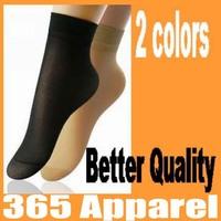 Better quality ladies velvet silk socks core spun spandex socks free shipping 10pairs/lot