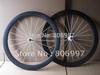 Super light carbon fiber bike wheelset 700c,3K matte carbon road bicycle tubular wheels 50mm with white Novatec hubs