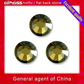 Wholesale 2pack/lot honey color flatback hotfix rhinestones crystals Almass 799 ss10 free shipping