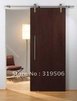 Free Shipping European Modern Stainless Wood Sliding Barn Door Hardware Set