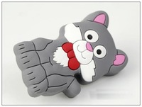 10PCS/Lot Gray Cat Kids Desk Drawers Handle Suitable For Drawers and Doors
