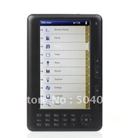 "HOT 7"" INCH Ebooks Reader Video MP3 MP5 Player 4GB  Support  mp4 function Freeshipping"