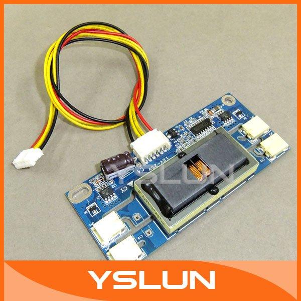 20 PCS/LOT Small Universal LCD Monitor Inverter 4 Lamps 12-25V CCFL LCD Monitor Inverter #090726(China (Mainland))