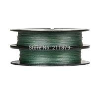 Wholesale - 100yds 6LB10LB15LB20LB30LB40LB50LB65LB80LB100LB green colore dyneema braided fishing  line  free shipping