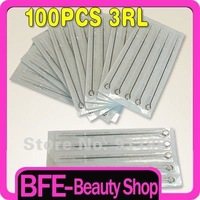 Wholesale E.O. Gas Steriled 100PCS Tattoo Needles Round Liner 3RL Tattoo Art free shipping J1003