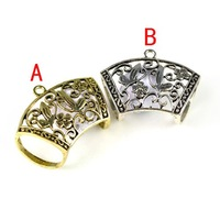 Antique brass tube accessories for DIY scarf,butterfly jewelry,3pcs a lot,pt-506
