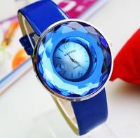 Hot selling Free shipping fashion new models leather belt strap quartz wrist watch clock women
