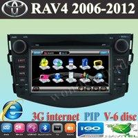 "7"" Car DVD Player with GPS Navigation for Toyota RAV 4 RAV4  2006 - 2011 / support 3G modem / internet"