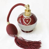 heart-shaped spray perfume bottle ,80ml/SF-232A/uniqueness,Glass, metal