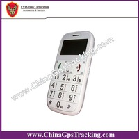 Gps phone Personal tracker for elderly/old people with big buttons With Flashlight 8 kinds of l language PT503
