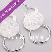 Merry Christmas! 925 Sterling Silver Fashion Jewelry Earrings Beautiful Dangle Earrings High Quality Multi-Circle O Earrings