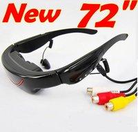 Portable eyewear 72inch video glasses with virtual feeling as a person cinema, AV input for enjoy bigger screeen