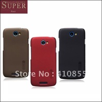Nillkin anti-fingerprint slim super shield matte shell case for HTC one S Z520e cover,with free screen protector