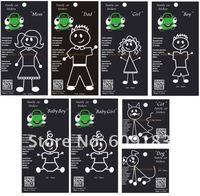 Free shipping 30 set (240 pcs)UV protected vinyl car decals family