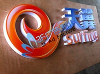 Surfing gradient acrylic  led letter signs/Outdoor advertising/Billboard