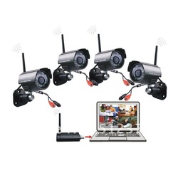 Digital 4CH Wireless Camera Home Security CCTV System 2.4GHZ Remote monitoring(China (Mainland))
