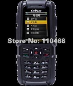 [Outfone Certificated] 100% original A83 outdoor phone Walkie Talkie Thermometer russian keyboard ,GPS,Waterproof, Dustproof