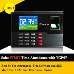 Biometric Fingerprint Time Attendance TFT Energy-Saving Recorder Clock System Recording RFID Card Free Shipping(China (Mainland))