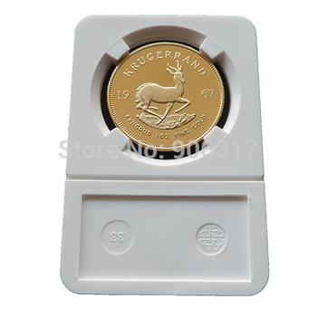 5 pcs/lot  Wholesale 1OZ Fine Gold-Plated Year 1967 Krugerrand No Copy Coin
