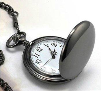 PB002 High Quality 47X47MM New Arrival Big Size Black Polish Pocket Watch