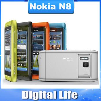"N8 Original Nokia N8 3G WIFI GPS 12MP Touchscreen 3.5"" Unlocked Mobile Phone 16GB Internal Free Shipping!!!"
